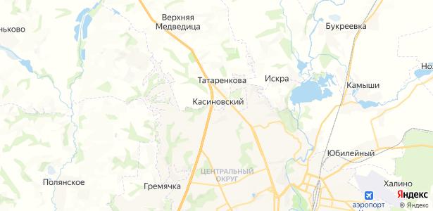 Касиновский на карте