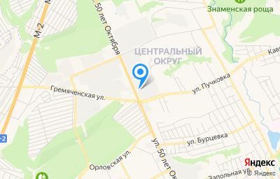 Местоположение на карте пункта техосмотра по адресу г Курск, ул 50 лет Октября, д 169А