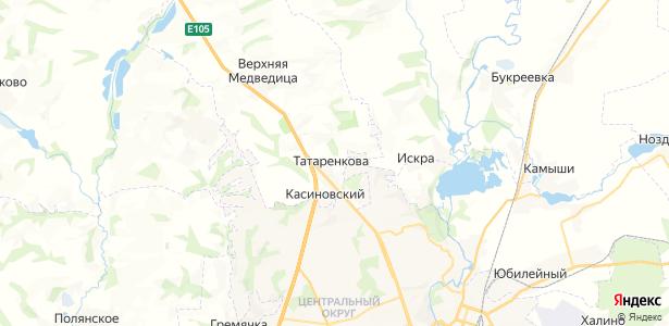 Татаренкова на карте