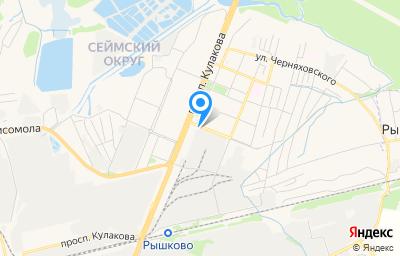 Местоположение на карте пункта техосмотра по адресу г Курск, ул Народная, д 1А