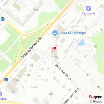 г. Орел, шоссе. Московское,128 на карта