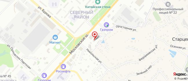 Карта расположения пункта доставки DPD Pickup в городе Орёл