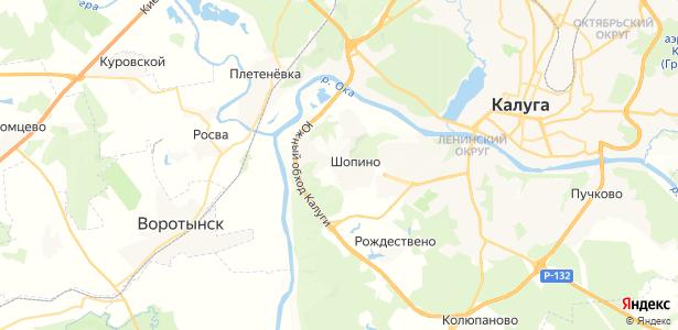 Шопино на карте
