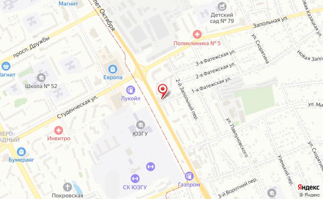Карта расположения пункта доставки Пункт выдачи в городе Курск