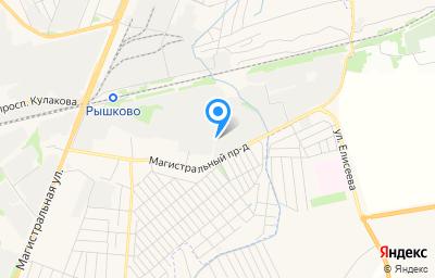 Местоположение на карте пункта техосмотра по адресу г Курск, проезд Магистральный, д 18З