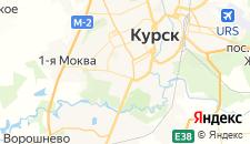 Отели города Курск на карте