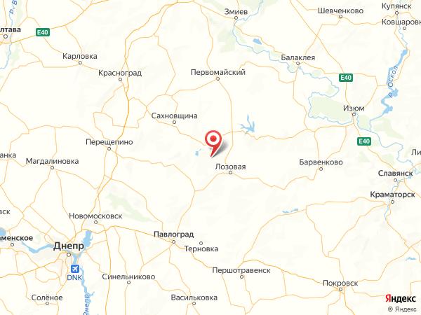 поселок Миролюбовка на карте