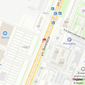 г. Курск, ул. Энгельса, на карта