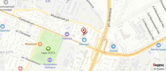 Карта расположения пункта доставки Курск Сумская в городе Курск
