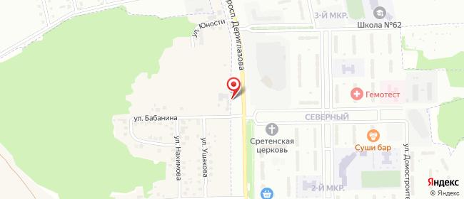 Карта расположения пункта доставки Курск Анатолия Дериглазова в городе Курск