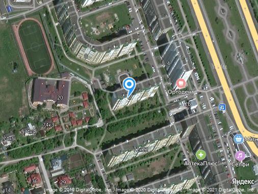 Продаем 1-комнатную квартиру, 41 м², Курск, проспект Победы, 6