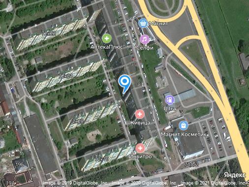Аренда 1-комнатной студии, 52 м², Курск, проспект Победы, 2
