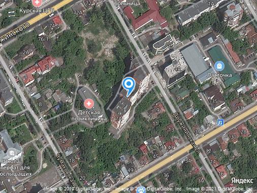 Аренда 1-комнатной квартиры, 43 м², Курск, улица Дружининская, 7А