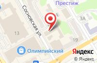 Схема проезда до компании АрхиТэрра в Сосновке