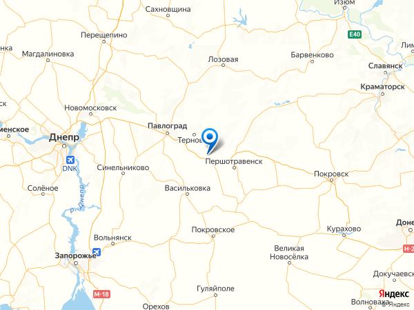 садовые участки шахты Днепровская на карте