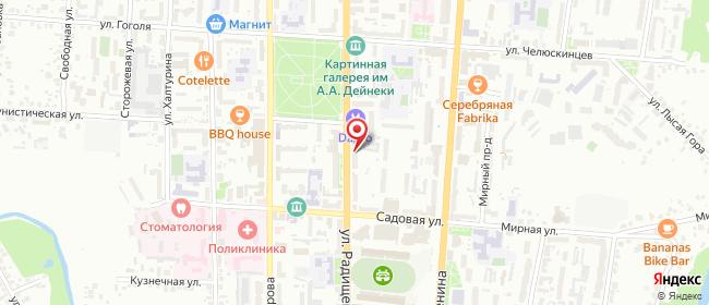 Карта расположения пункта доставки Lamoda/Pick-up в городе Курск