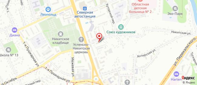 Карта расположения пункта доставки Курск Никитская в городе Курск