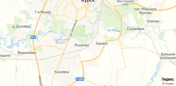 Голубицкое на карте