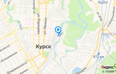 Местоположение на карте пункта техосмотра по адресу г Курск, ул Нижняя Набережная, д 17