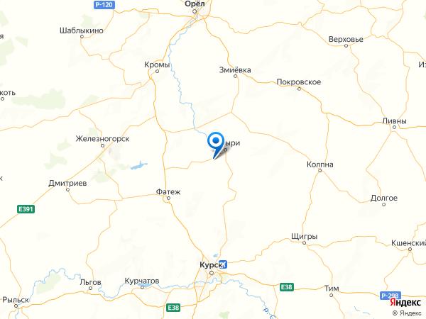 поселок 2-е Поныри на карте