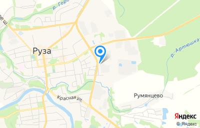 Местоположение на карте пункта техосмотра по адресу Московская обл, г Руза, ул Филимонцево, д 26