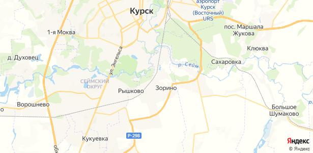Зорино на карте