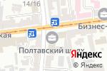 Схема проезда до компании Будокан в Харькове