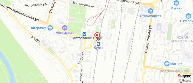 Карта расположения пункта доставки Курск Привокзальная в городе Курск
