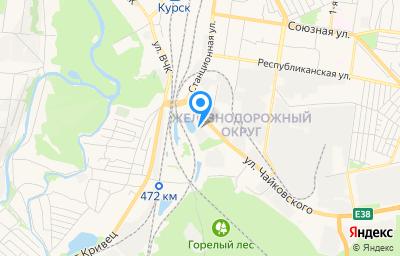 Местоположение на карте пункта техосмотра по адресу г Курск, ул Чайковского, зд 27Б
