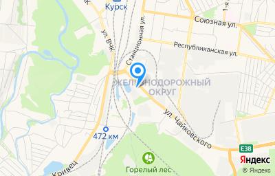 Местоположение на карте пункта техосмотра по адресу г Курск, ул Чайковского, д 27Б