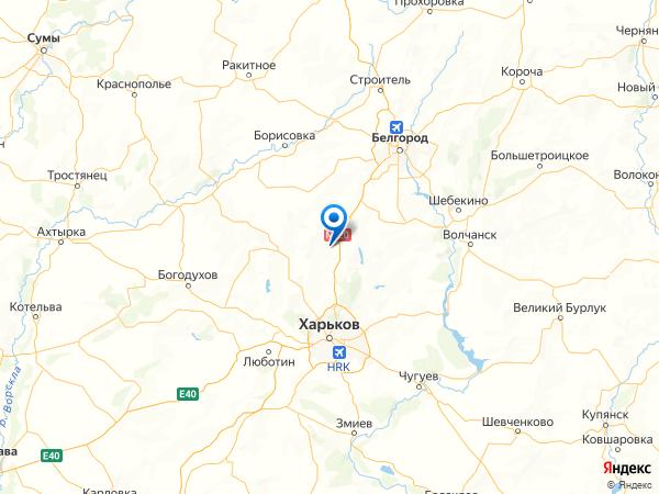 село Токаревка на карте