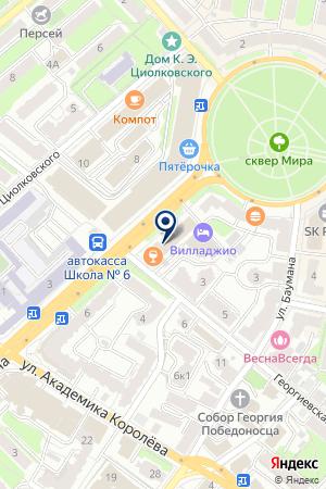 АКБ ЛЕФКО-БАНК на карте Калуги