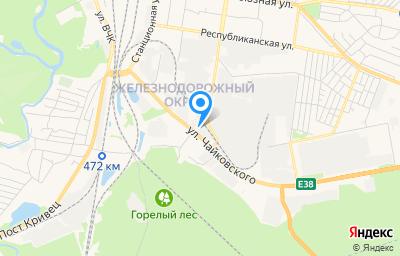 Местоположение на карте пункта техосмотра по адресу г Курск, ул Чайковского, д 66
