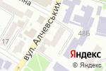 Схема проезда до компании Терминал самообслуживания, МЕГАБАНК, ПАО в Харькове