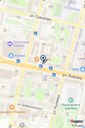РОССИЙСКИЙ СЕЛЬСКОХОЗЯЙСТВЕННЫЙ БАНК на карте Калуги