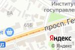 Схема проезда до компании 16 дюймов в Харькове
