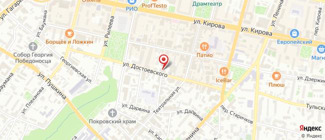 Карта расположения пункта доставки Ростелеком в городе Калуга