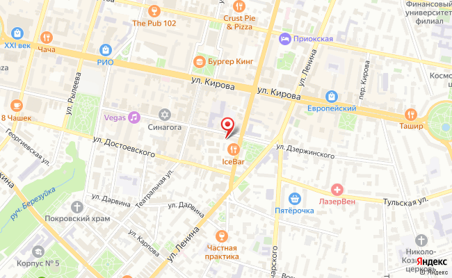 Карта расположения пункта доставки 220 вольт в городе Калуга