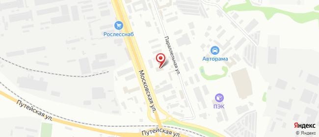 Карта расположения пункта доставки DPD Pickup в городе Калуга