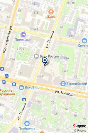 АКБ РОСБАНК на карте Калуги