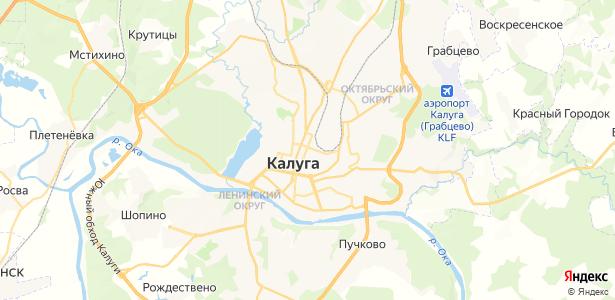 Калуга на карте