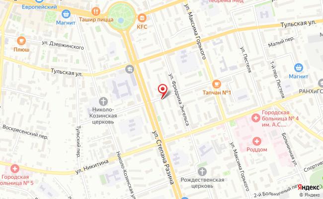 Карта расположения пункта доставки Халва в городе Калуга