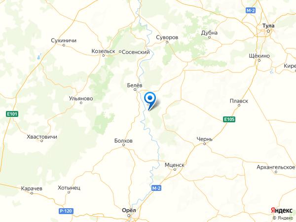 деревня Гамово на карте