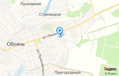 Местоположение на карте пункта техосмотра по адресу Курская обл, г Обоянь, ул Ленина, д 94