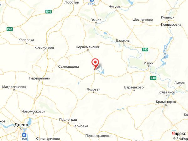 поселок городского типа Краснопавловка на карте