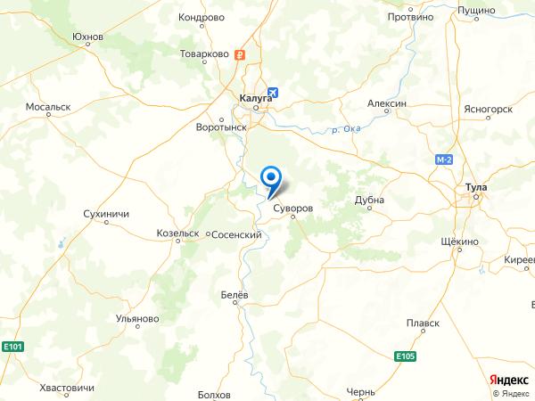 село Доброе на карте