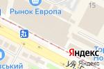 Схема проезда до компании Элегант в Харькове