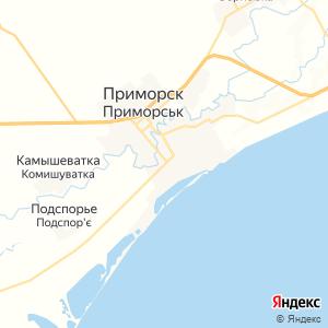 Карта города Приморска