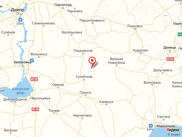 село Привольное на карте