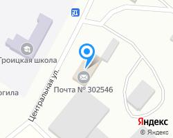 Схема местоположения почтового отделения 302546